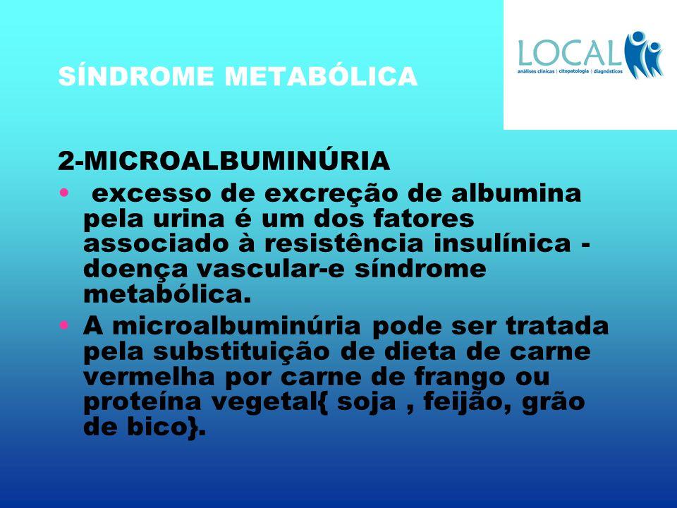 SÍNDROME METABÓLICA 2-MICROALBUMINÚRIA.