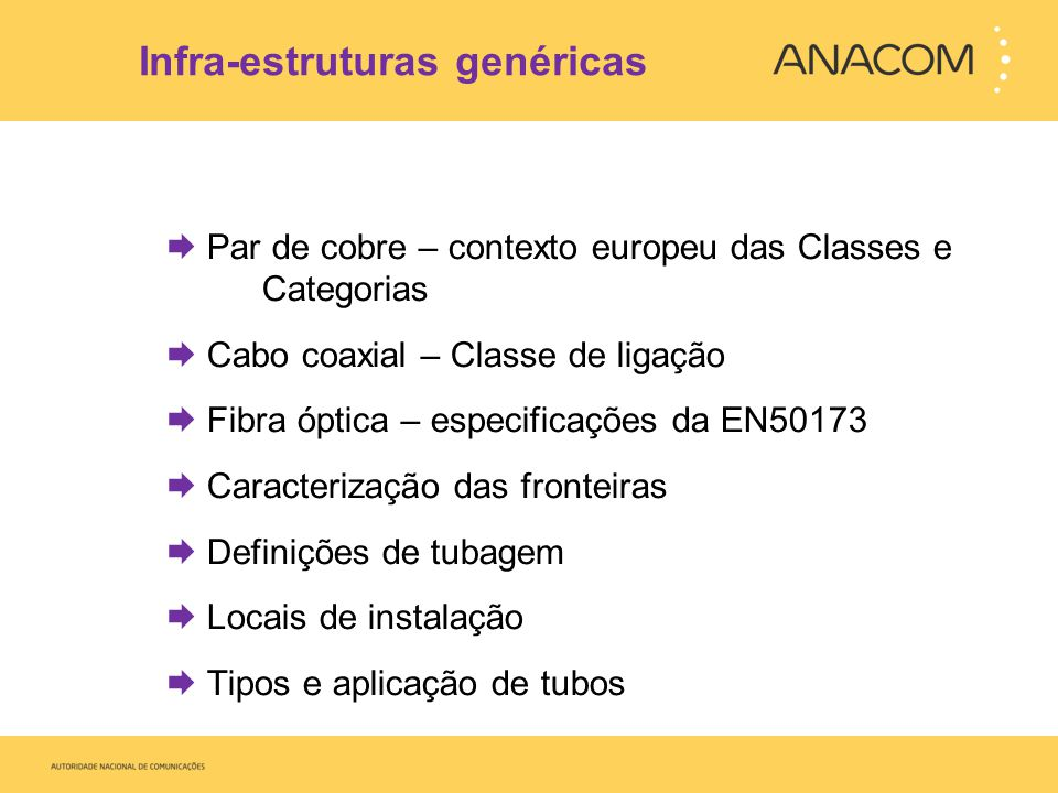 Infra-estruturas genéricas