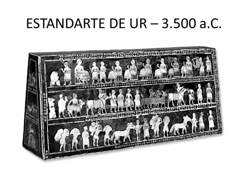 ESTANDARTE DE UR – 3.500 a.C.