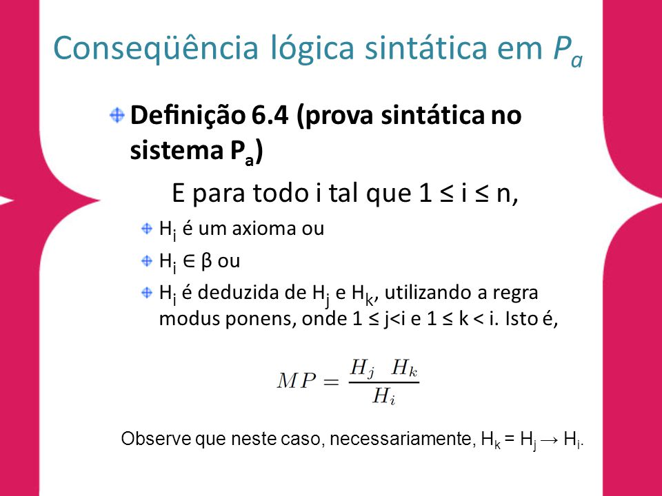 Conseqüência lógica sintática em Pa