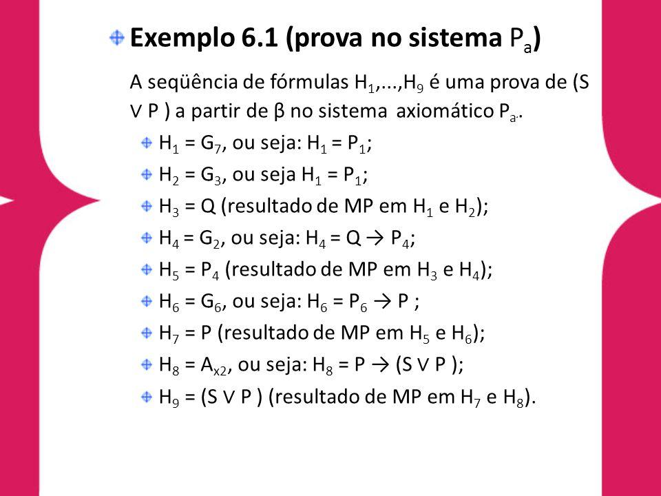Exemplo 6.1 (prova no sistema Pa)