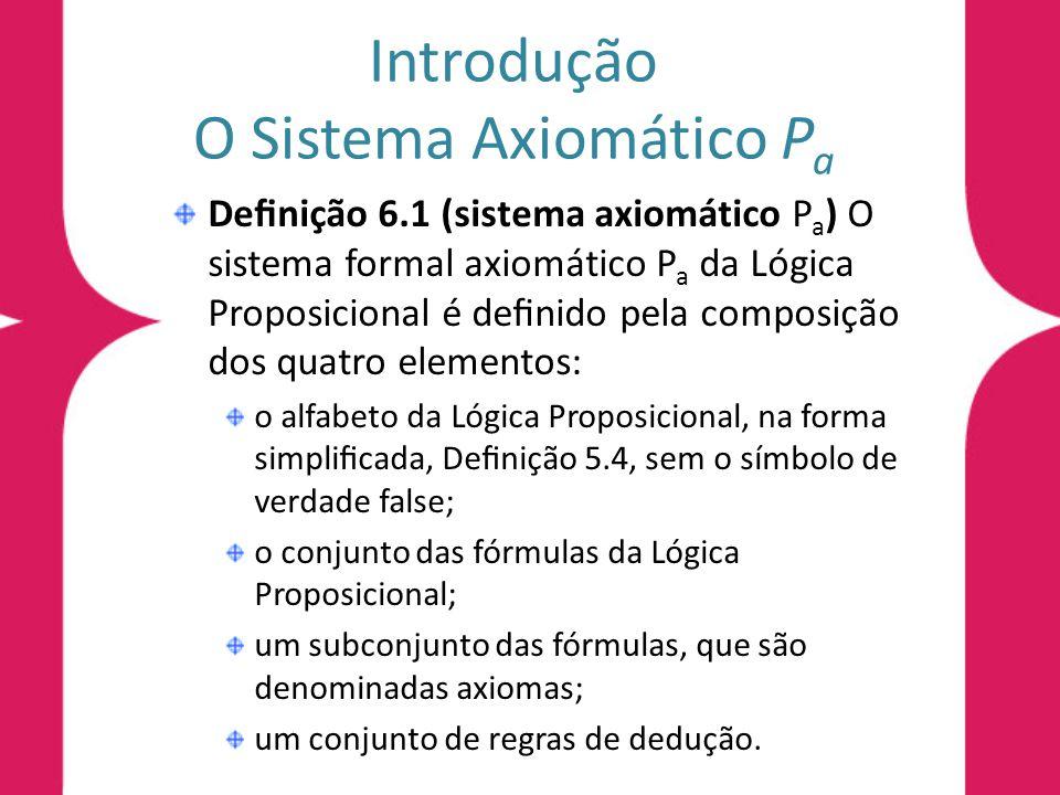 Introdução O Sistema Axiomático Pa