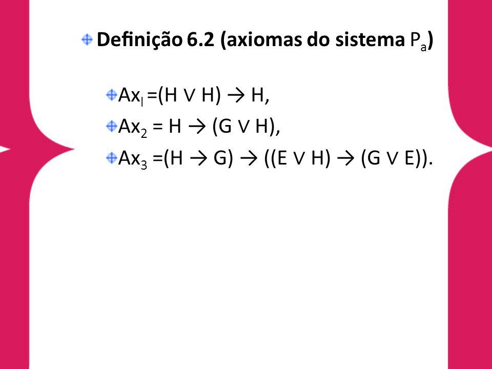 Definição 6.2 (axiomas do sistema Pa)