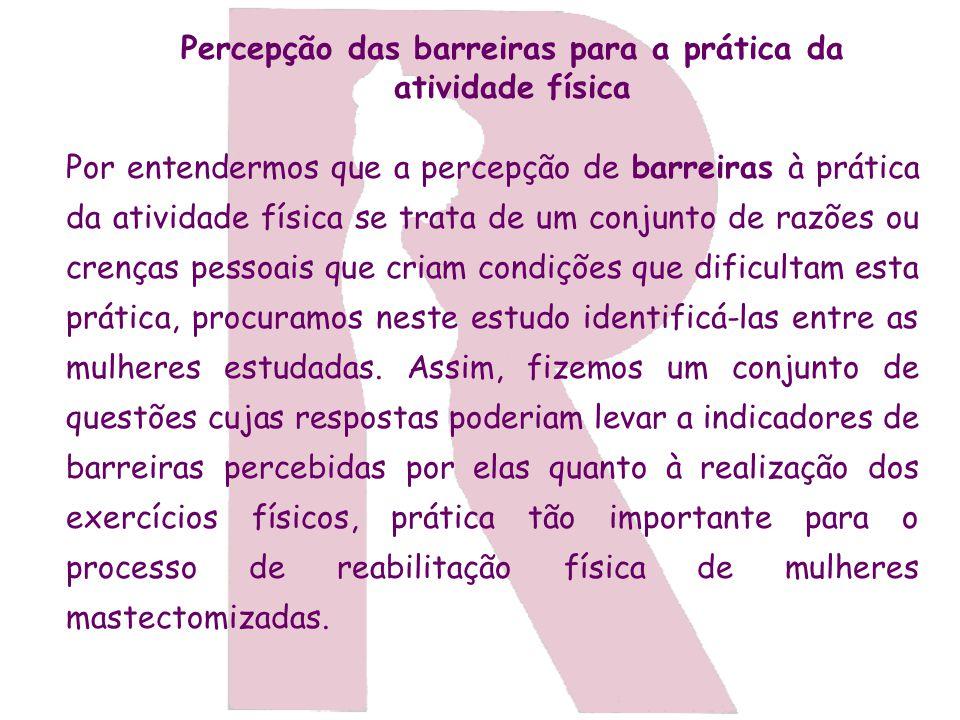 Percepção das barreiras para a prática da atividade física