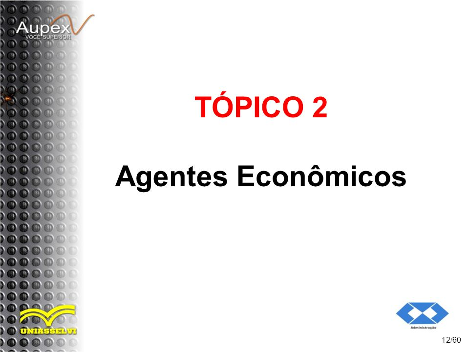 TÓPICO 2 Agentes Econômicos