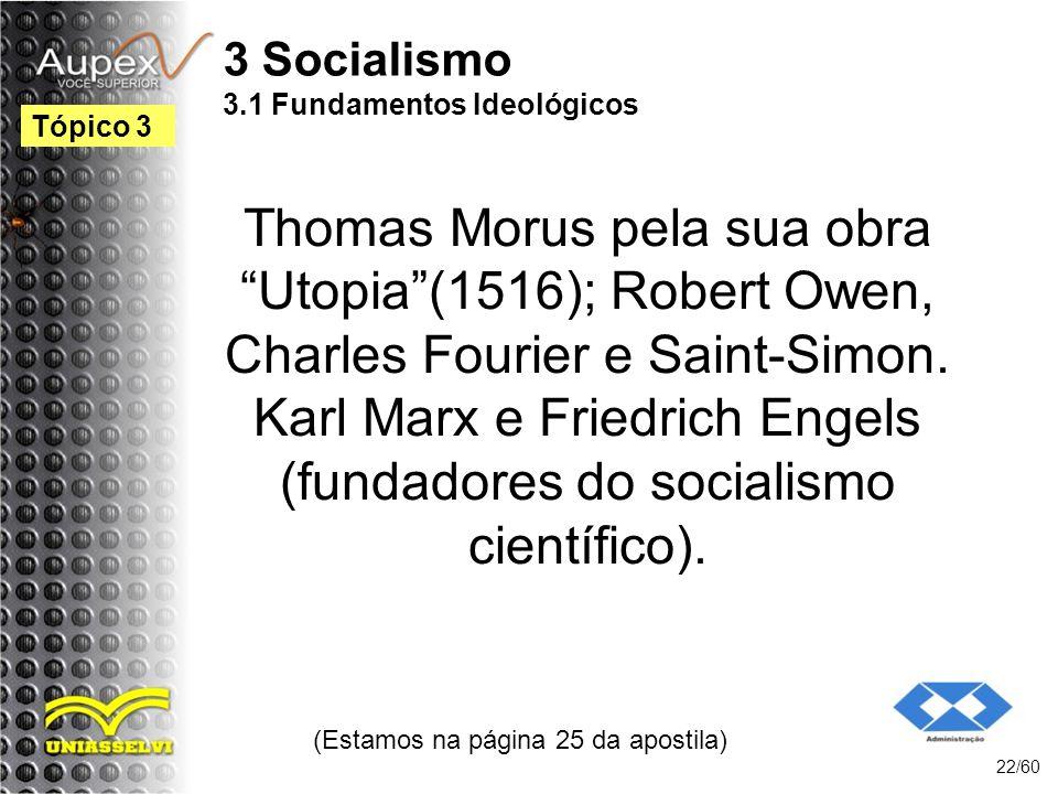 3 Socialismo 3.1 Fundamentos Ideológicos