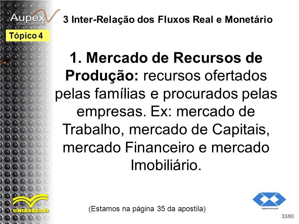 3 Inter-Relação dos Fluxos Real e Monetário