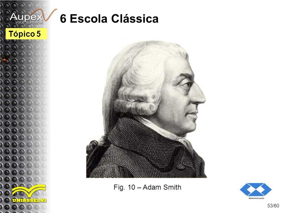 6 Escola Clássica Tópico 5 Fig. 10 – Adam Smith 53/60