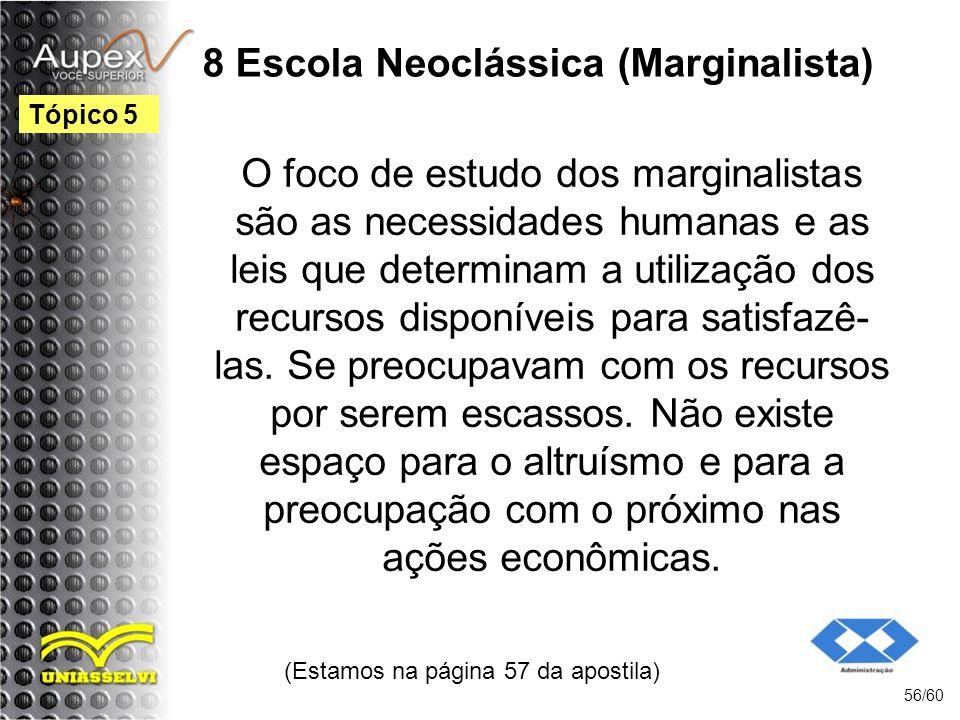 8 Escola Neoclássica (Marginalista)
