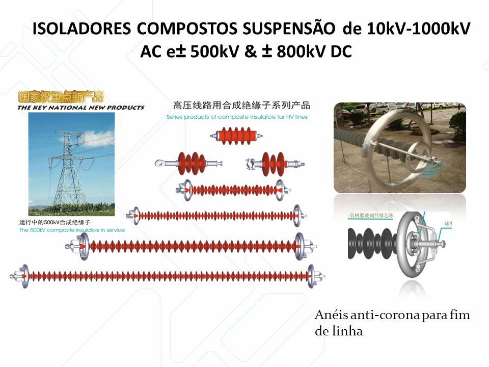 ISOLADORES COMPOSTOS SUSPENSÃO de 10kV-1000kV AC e± 500kV & ± 800kV DC