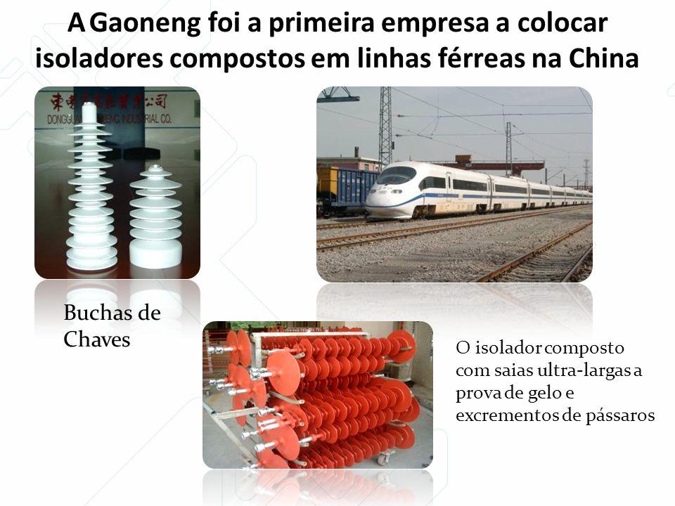 A Gaoneng foi a primeira empresa a colocar isoladores compostos em linhas férreas na China