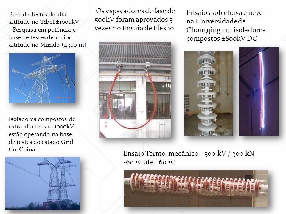 Ensaio Termo-mecânico – 500 kV / 300 kN -60 •C até +60 •C