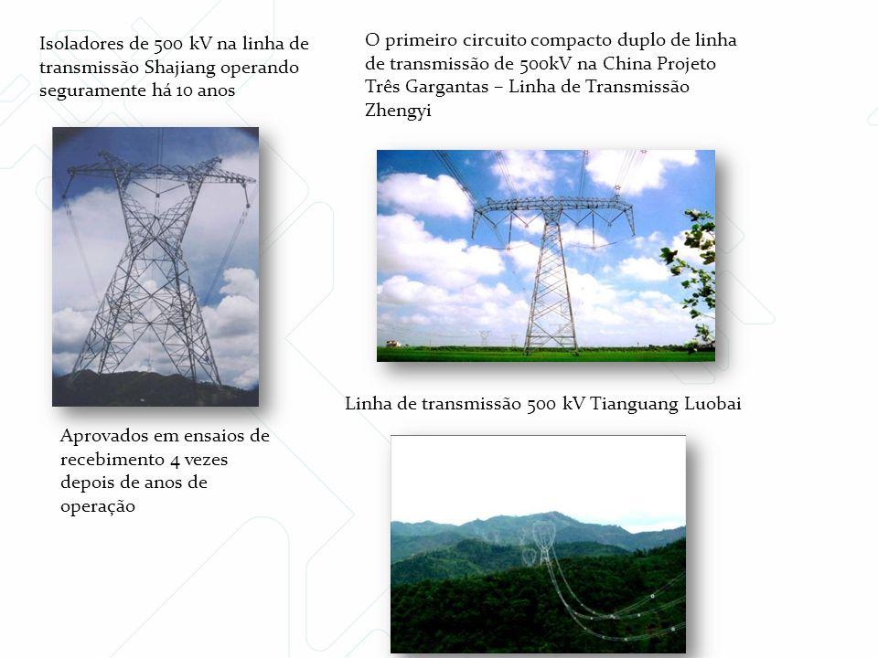 Isoladores de 500 kV na linha de transmissão Shajiang operando seguramente há 10 anos
