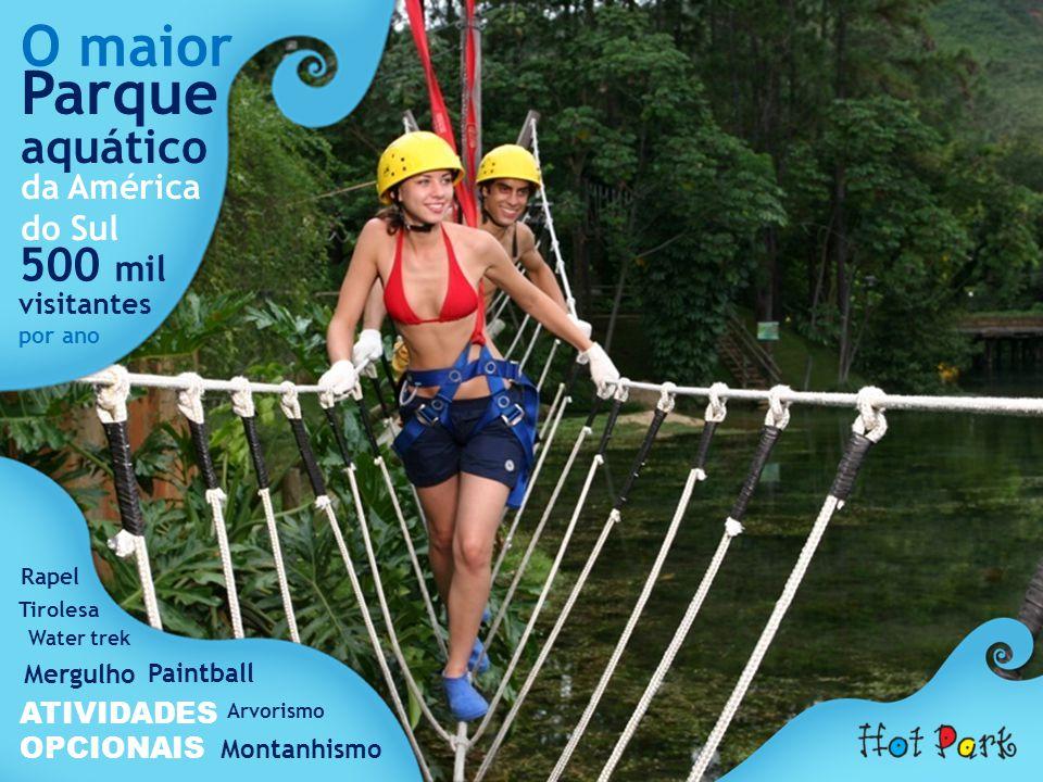 Parque O maior aquático 500 mil da América do Sul visitantes