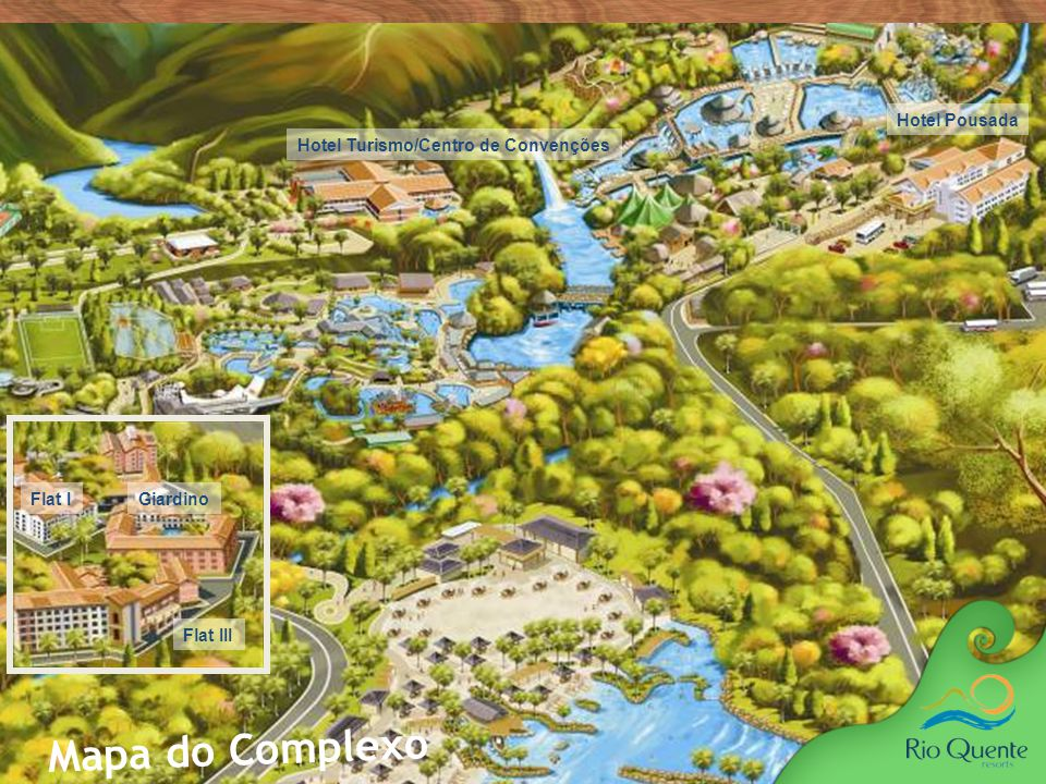 Mapa do Complexo 3 Hotel Pousada Hotel Turismo/Centro de Convenções