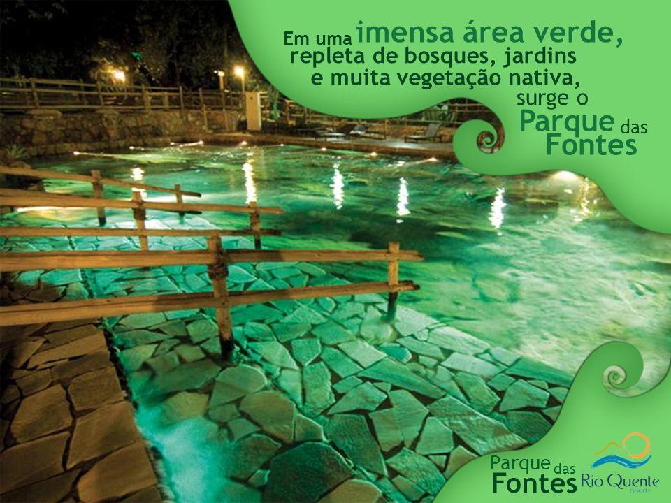 imensa área verde, Parque Fontes Fontes repleta de bosques, jardins