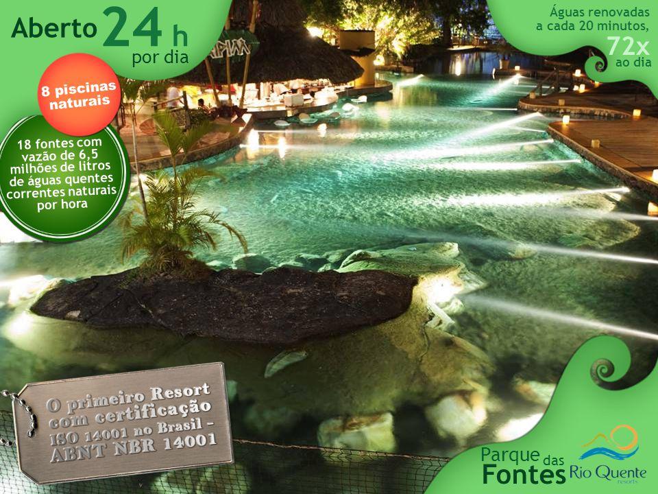 24 h Aberto Fontes Parque por dia das 8 piscinas naturais