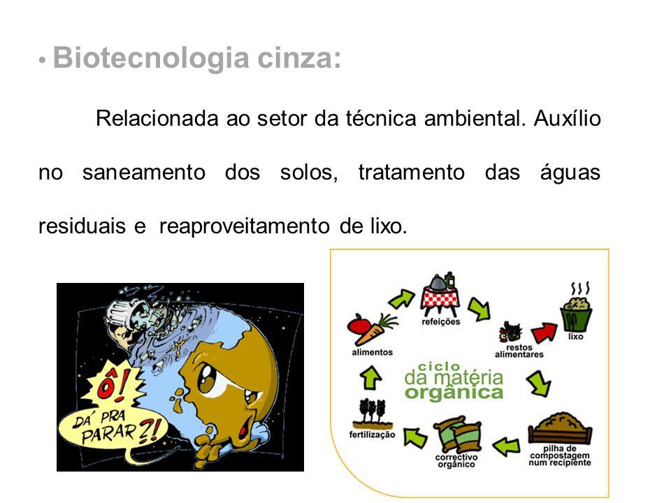 • Biotecnologia cinza: