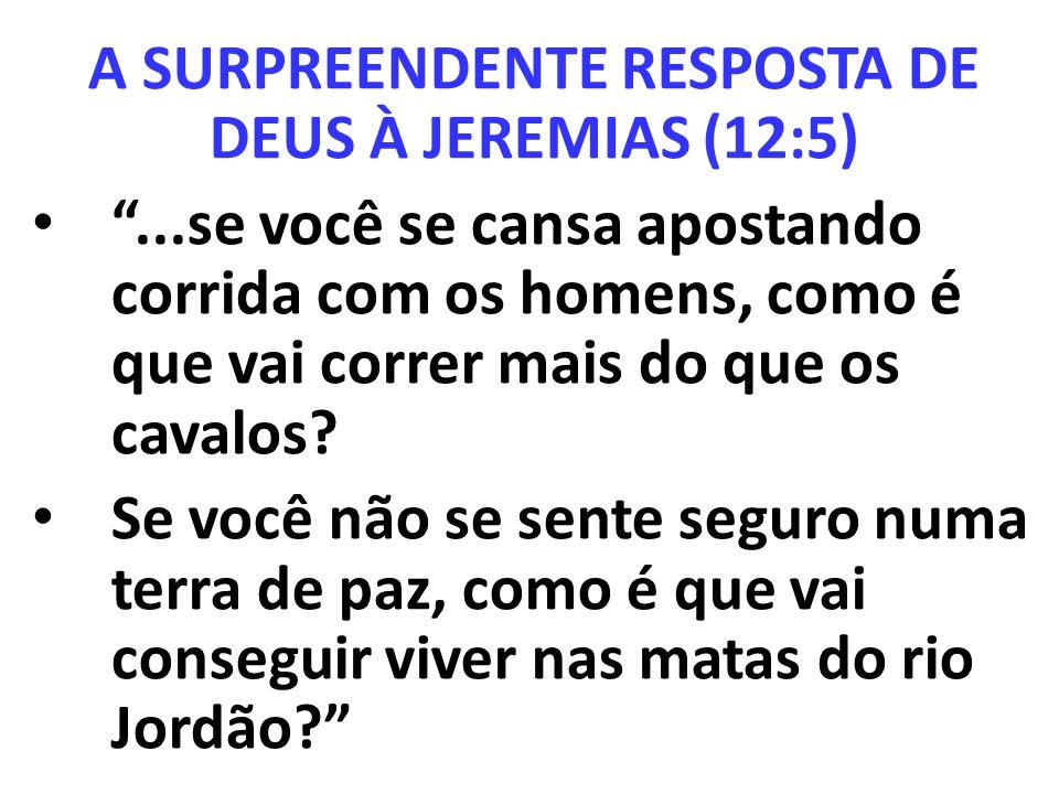 A SURPREENDENTE RESPOSTA DE DEUS À JEREMIAS (12:5)