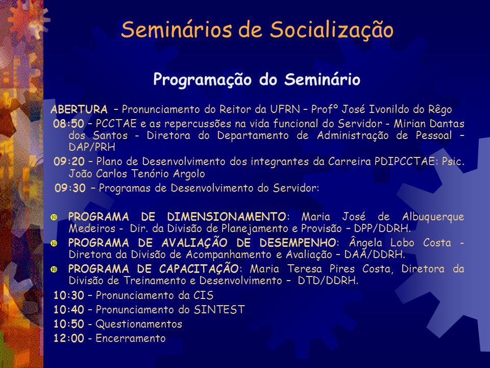 Seminários de Socialização