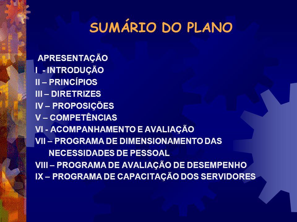 SUMÁRIO DO PLANO