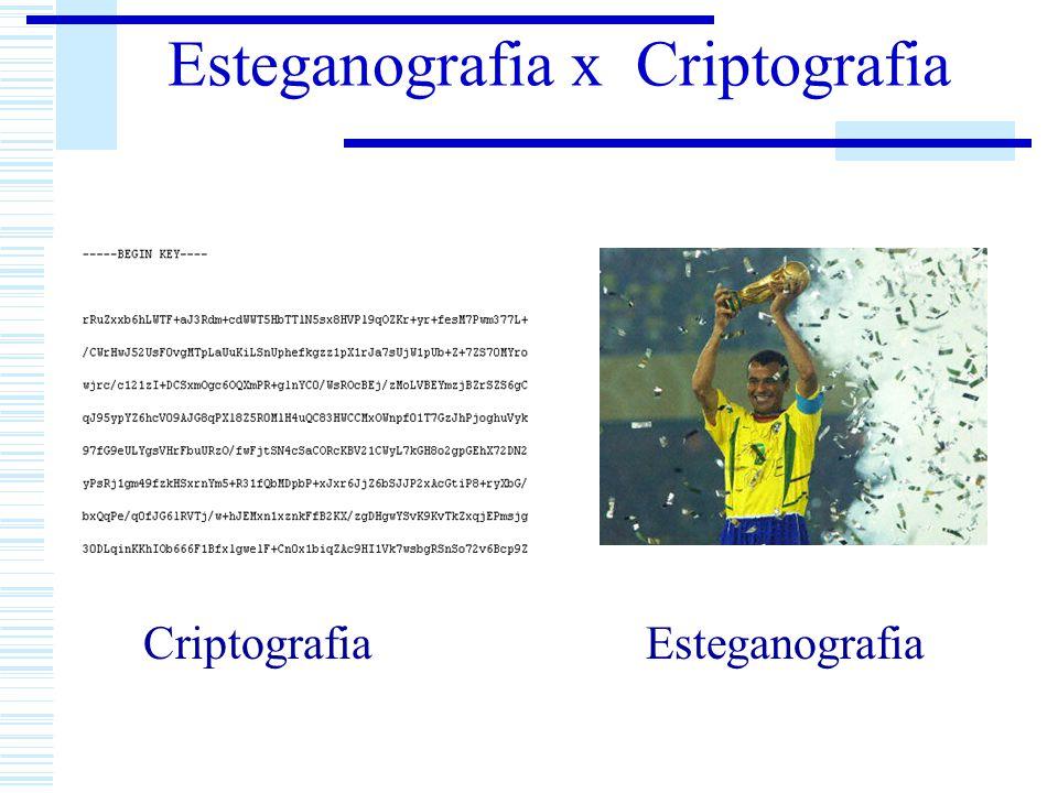 Esteganografia x Criptografia