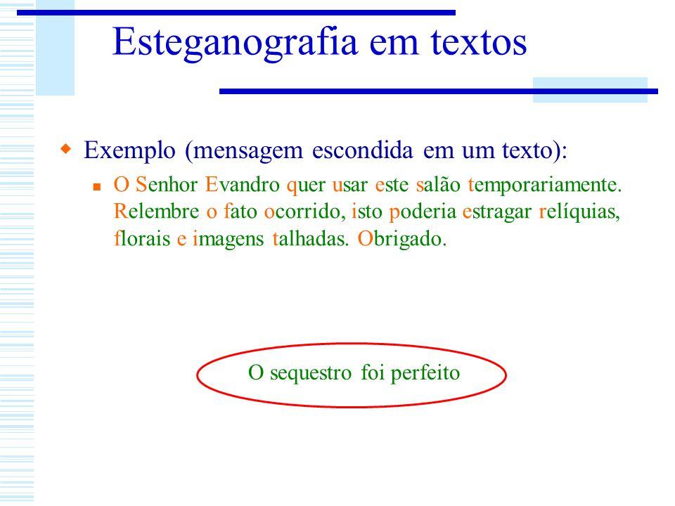 Esteganografia em textos