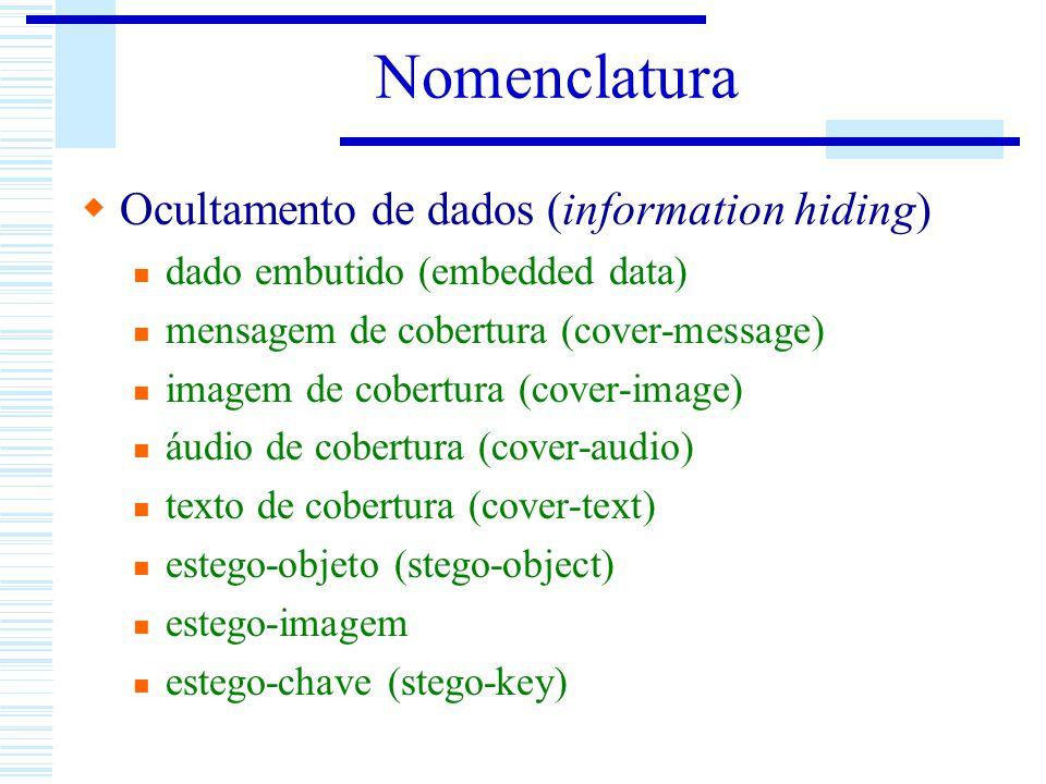 Nomenclatura Ocultamento de dados (information hiding)
