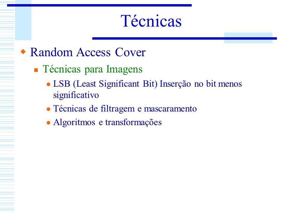 Técnicas Random Access Cover Técnicas para Imagens