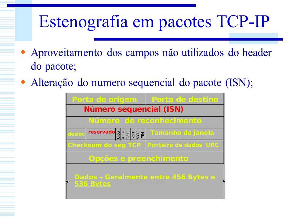 Estenografia em pacotes TCP-IP