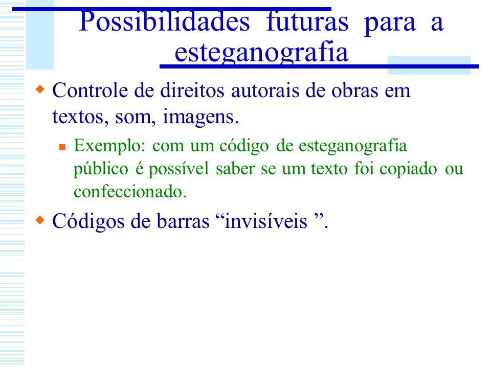 Possibilidades futuras para a esteganografia