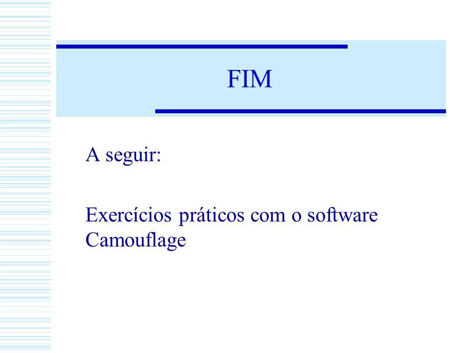A seguir: Exercícios práticos com o software Camouflage