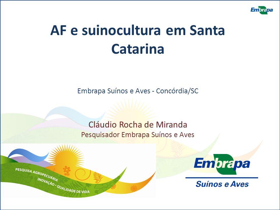 AF e suinocultura em Santa Catarina