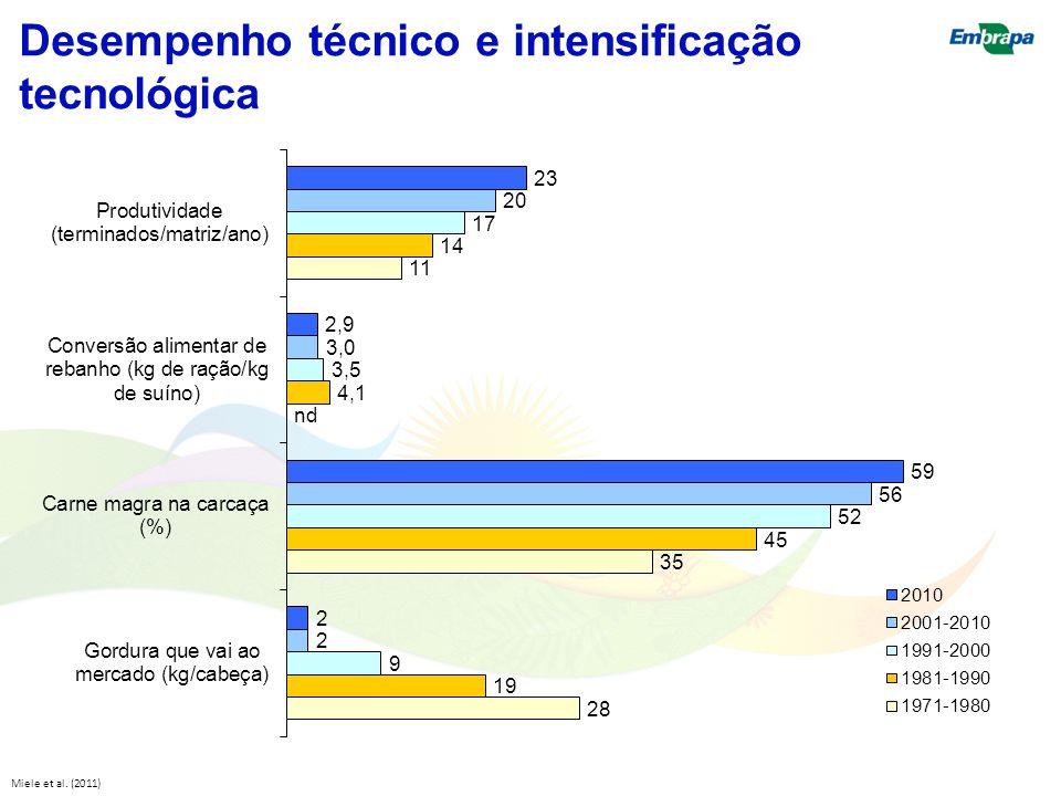 Desempenho técnico e intensificação tecnológica