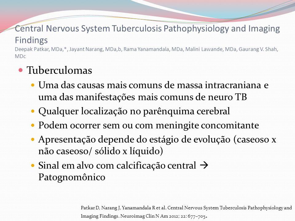 Central Nervous System Tuberculosis Pathophysiology and Imaging Findings Deepak Patkar, MDa,*, Jayant Narang, MDa,b, Rama Yanamandala, MDa, Malini Lawande, MDa, Gaurang V. Shah, MDc