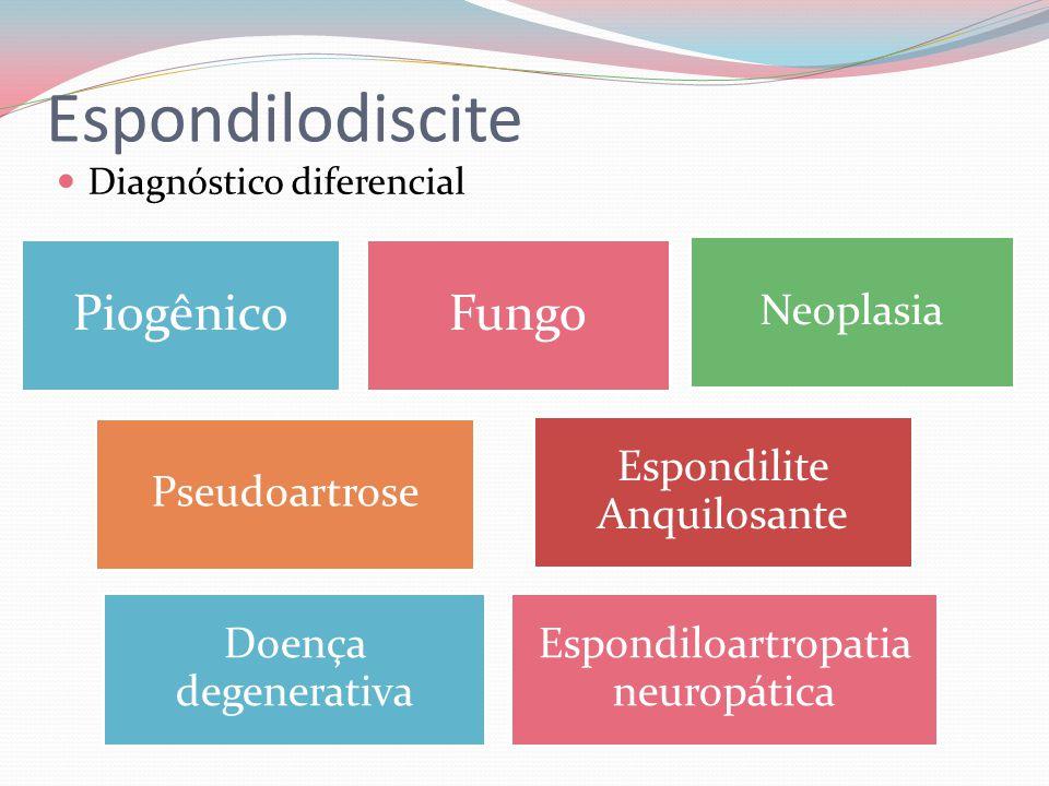 Espondilodiscite Piogênico Fungo Espondiloartropatia neuropática