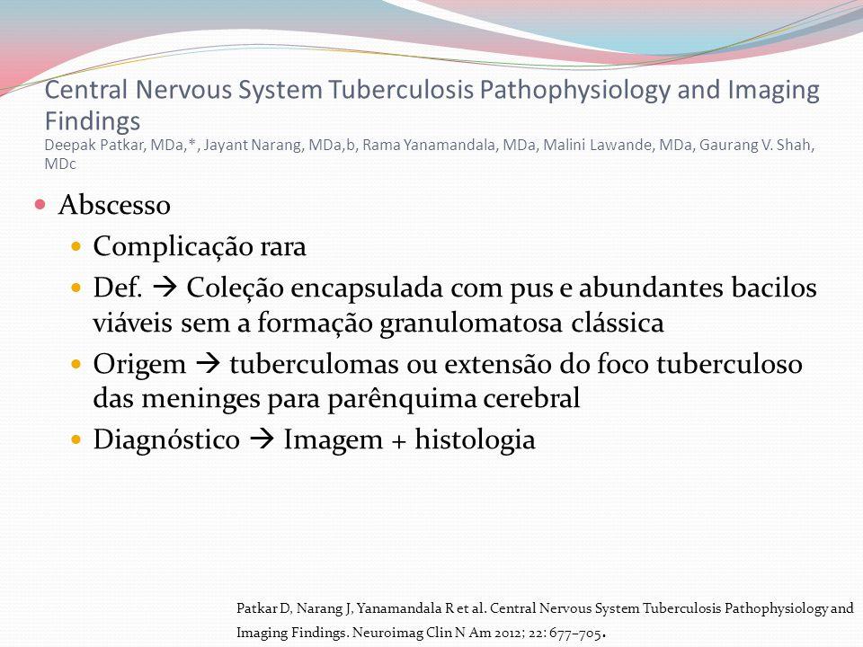 Diagnóstico  Imagem + histologia