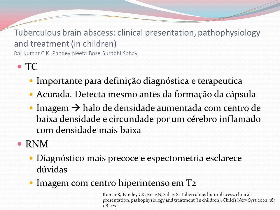 Tuberculous brain abscess: clinical presentation, pathophysiology and treatment (in children) Raj Kumar C.K. Pandey Neeta Bose Surabhi Sahay