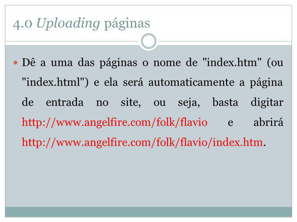 4.0 Uploading páginas
