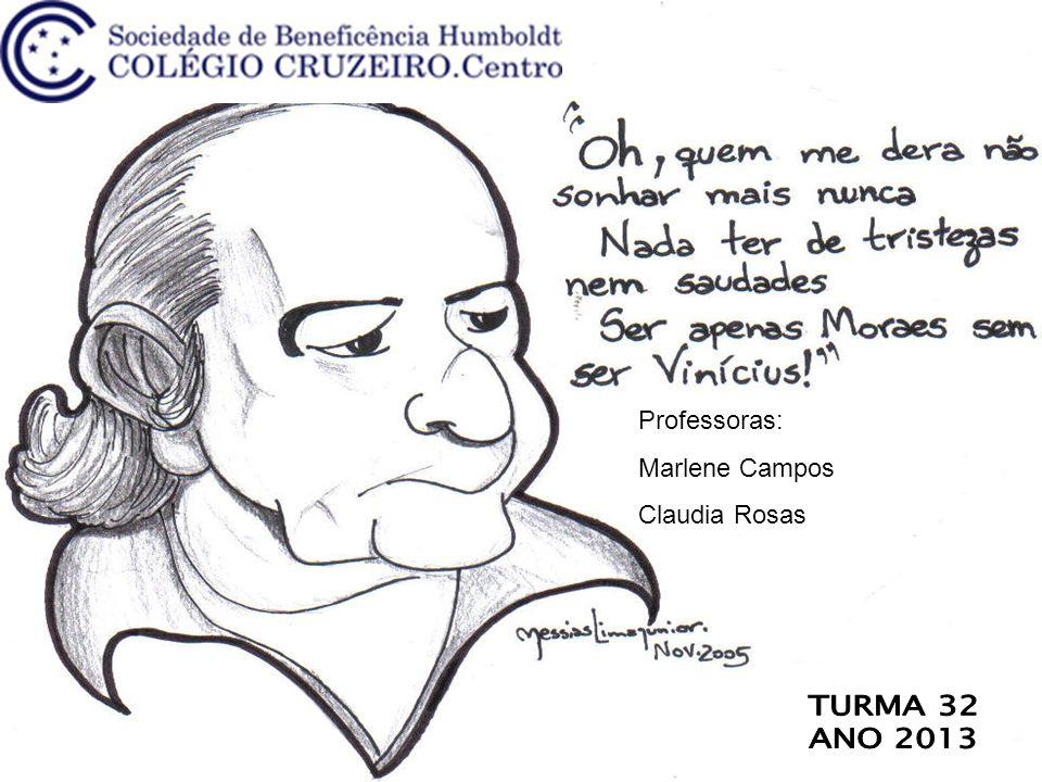 Professoras: Marlene Campos Claudia Rosas TURMA 32 ANO 2013