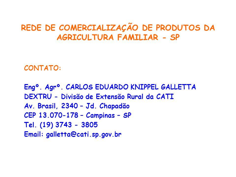 REDE DE COMERCIALIZAÇÃO DE PRODUTOS DA AGRICULTURA FAMILIAR - SP