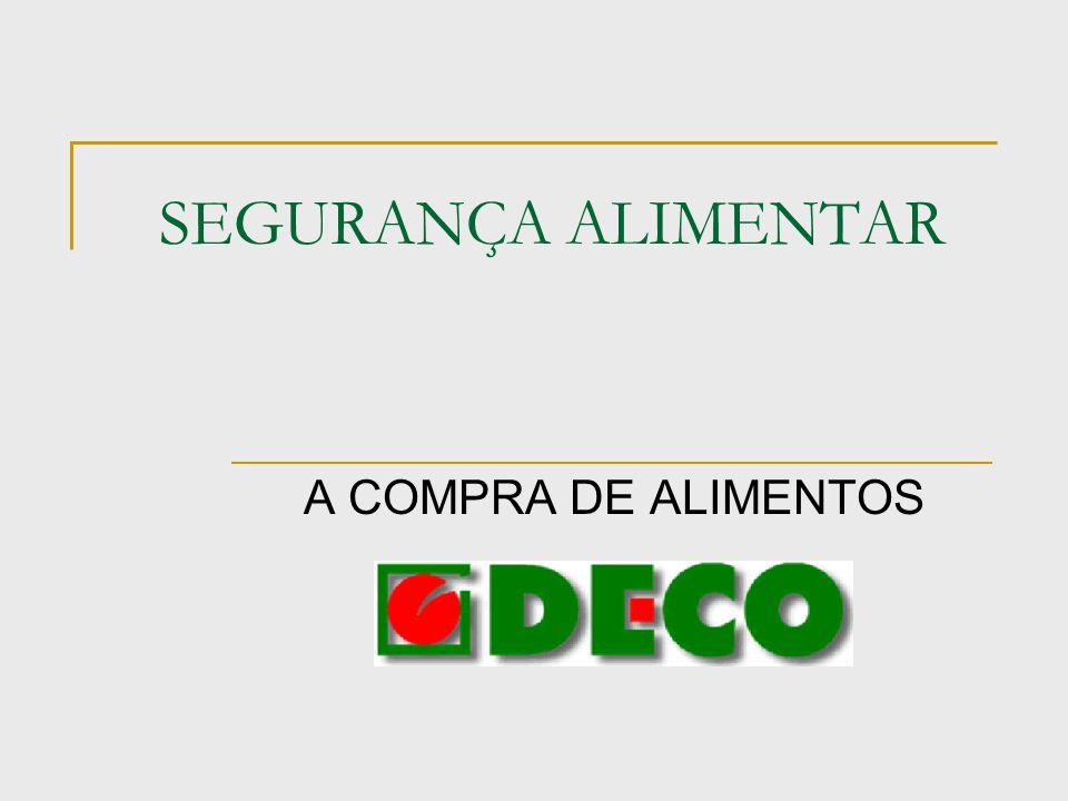 SEGURANÇA ALIMENTAR A COMPRA DE ALIMENTOS