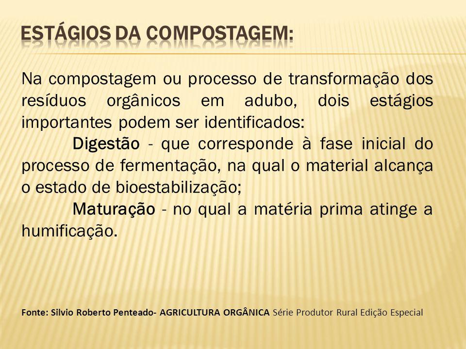 Estágios da compostagem:
