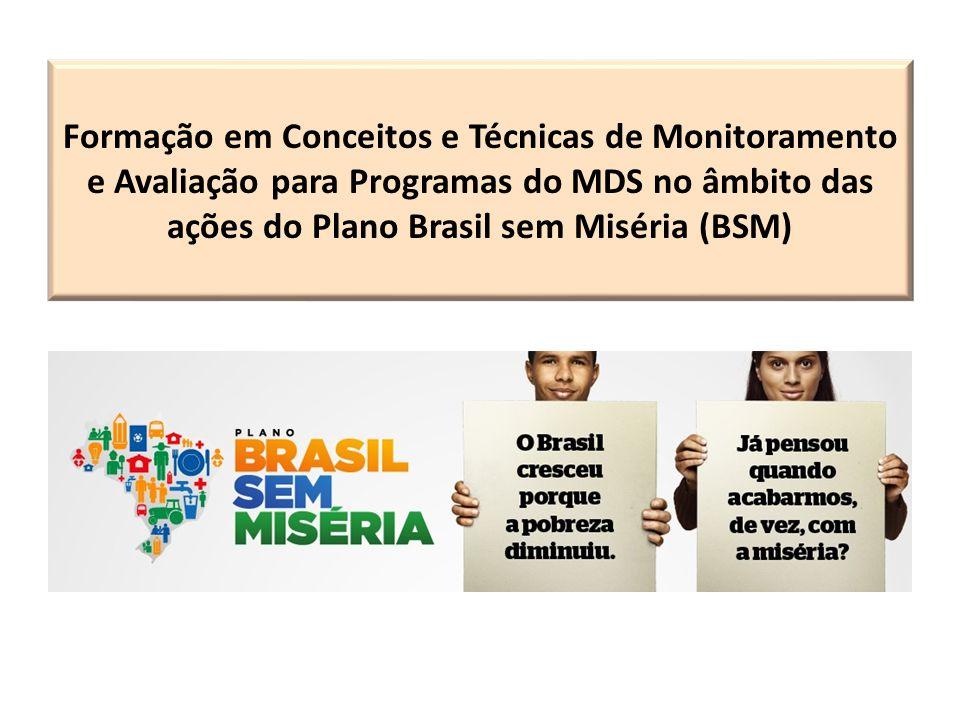 Formação em Conceitos e Técnicas de Monitoramento e Avaliação para Programas do MDS no âmbito das ações do Plano Brasil sem Miséria (BSM)