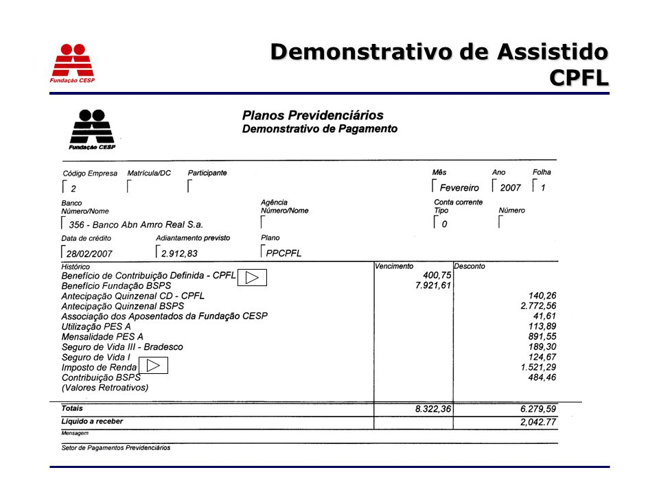Demonstrativo de Assistido CPFL