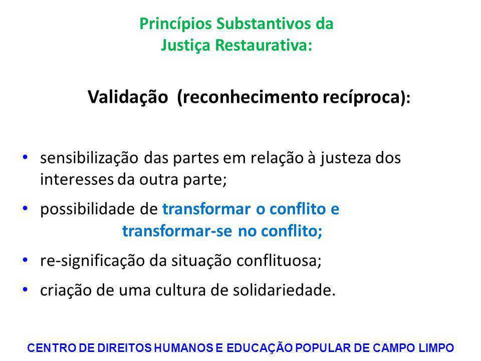 Princípios Substantivos da Justiça Restaurativa: