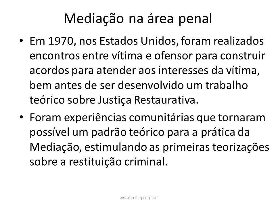 Mediação na área penal