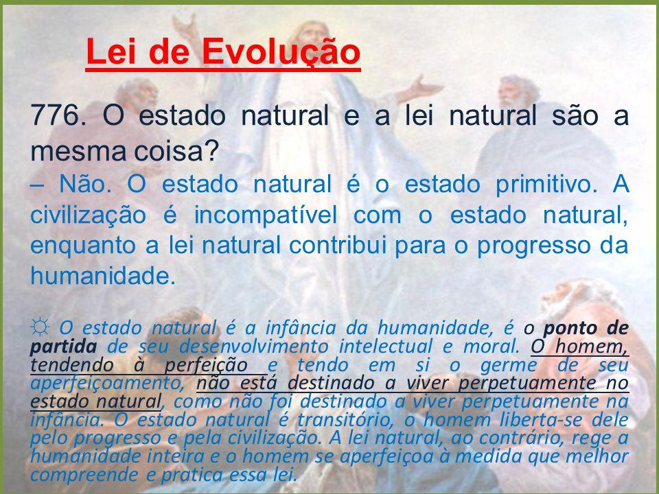 Lei de Evolução 776. O estado natural e a lei natural são a mesma coisa