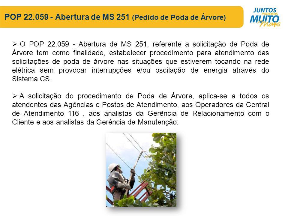 POP 22.059 - Abertura de MS 251 (Pedido de Poda de Árvore)