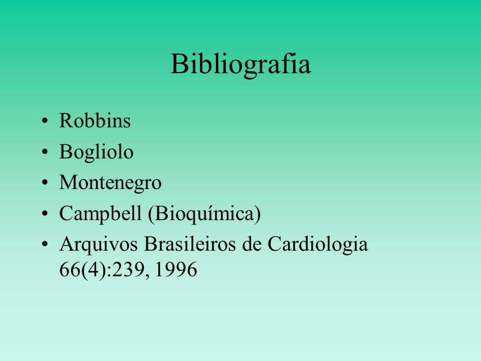 Bibliografia Robbins Bogliolo Montenegro Campbell (Bioquímica)